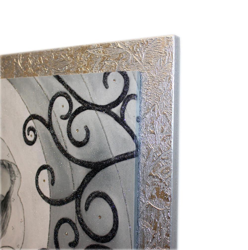 Quadro capezzale moderno su tela cornice legno 90x55 sacra ...