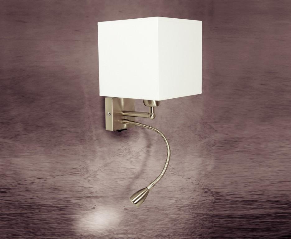 Applique moderno luce in acciaio con paralume coll gd ag