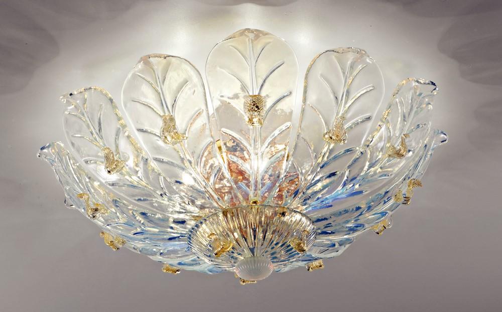 Plafoniere Vetro Di Murano Moderne : Plafoniera luci in vetro di murano opalino coll dese pl