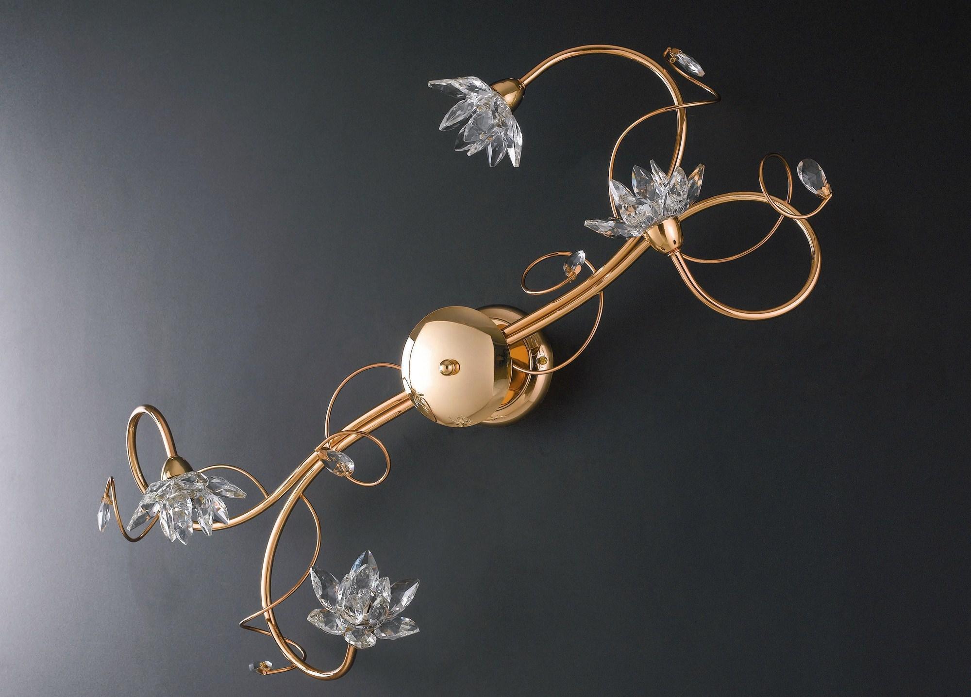 Plafoniere Moderne Con Cristalli : Plafoniera moderna oro con cristalli 4 luci lgt teo pl4 ebay