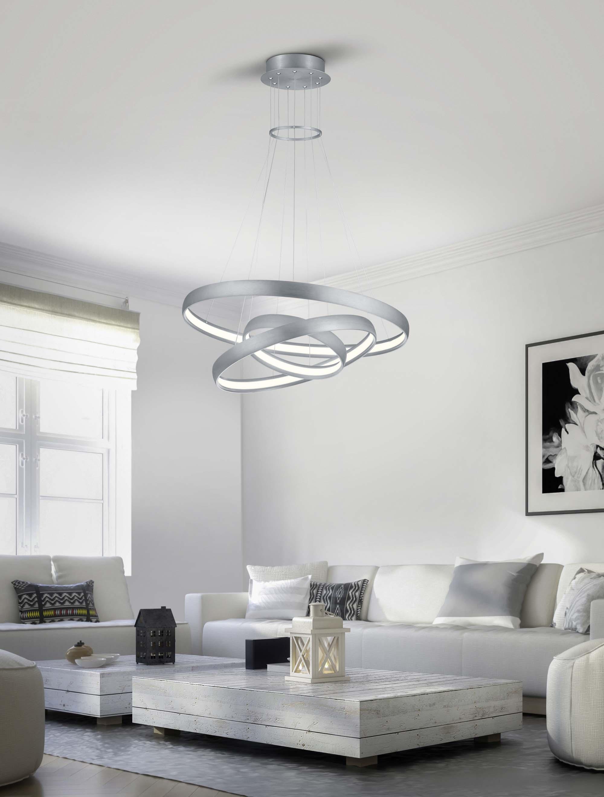 Lampadario A Led Moderno Design Alluminio Trio 325610305 Macau Ebay