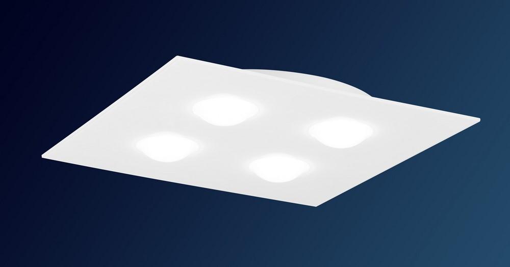 Plafoniere E Lampadari Moderni : Plafoniera design moderno in alluminio bianco e vetro people 9600